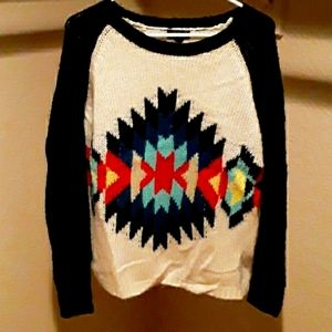 Topshop Tribal Aztec statement sweater